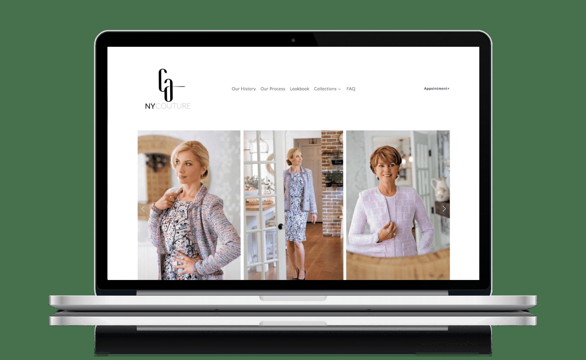 luxury fashion web design