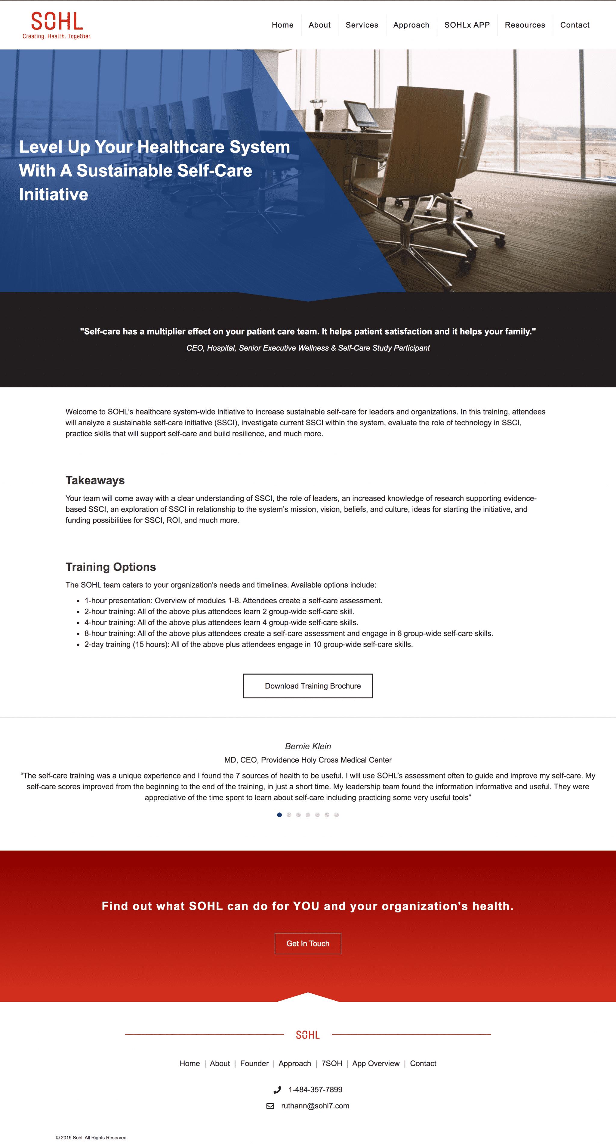 nj healthcare wellness web design
