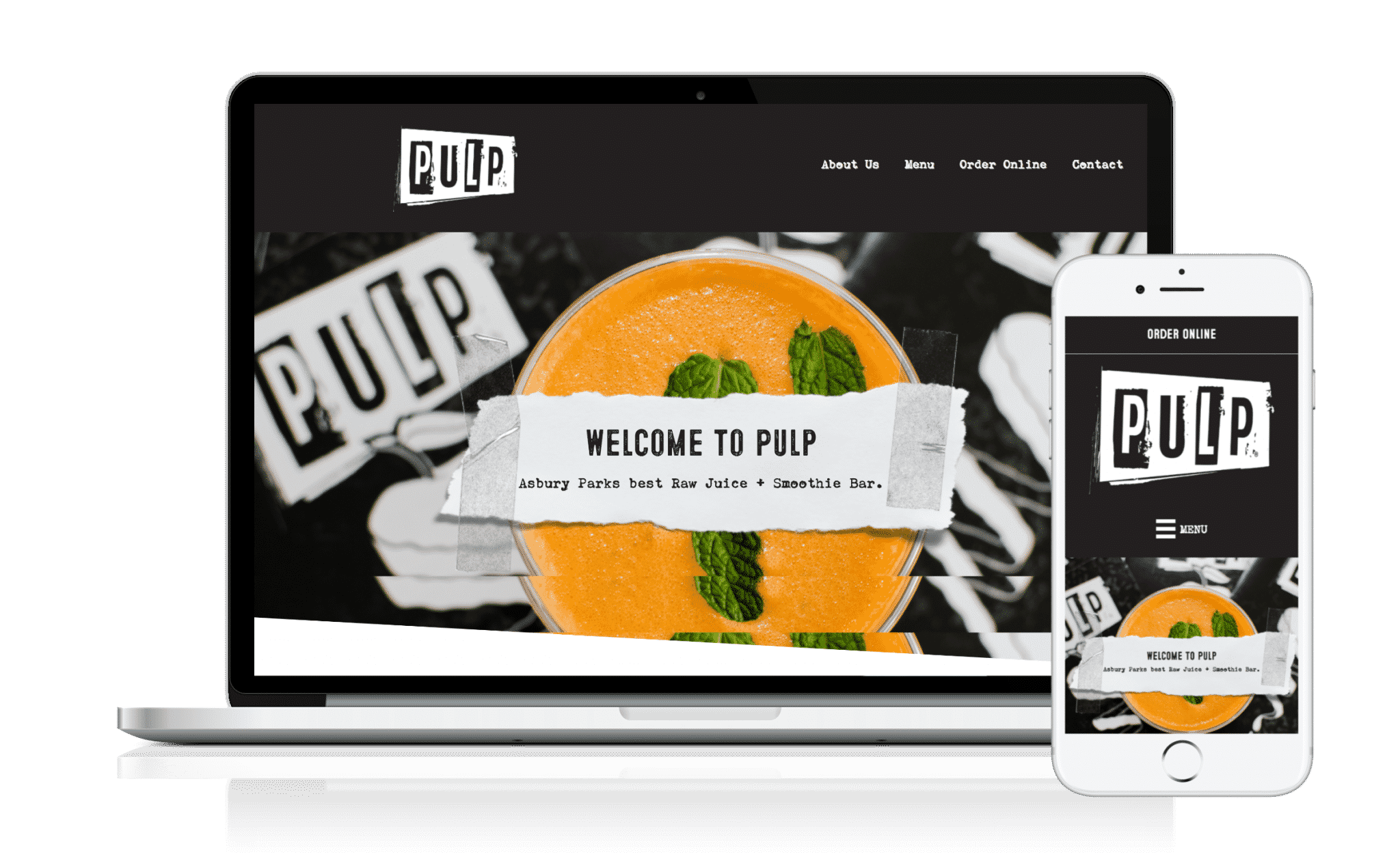 nj restaurant website design